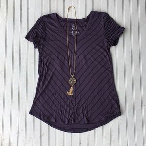 Maurice's striped purple and black top